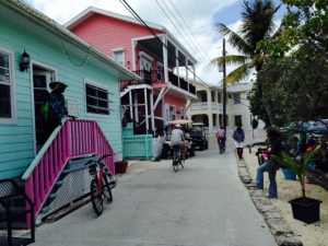 As in the more remote, outer cays, the streets are narrow concrete, and golf carts are the mode of transportation.
