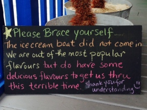 Now this place understands the importance of the afternoon ice cream stop...