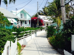 Hopetown is pretty and quaint, with well-kept homes, many small shops, and several quaint restaurants