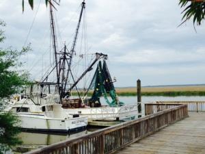 A shrimp boat at the Kilkenny dock.