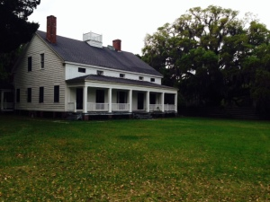The 1845 main house on the Kilkenny Plantation