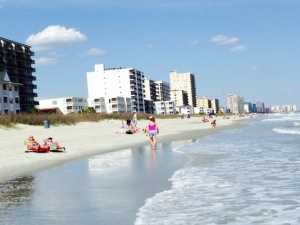 The beach at Myrtle Beach - too cold for me to swim!