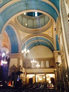 The inside of Flagler's church.