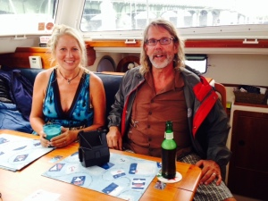 My cousin Steve Dempsey and his girlfriend Lisa live in St. Augustine and came to the boat to share a Happy Hour drink with us. We had a great time exchanging stories, and they both imparted their local knowledge regarding sights to see.