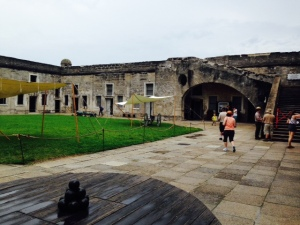 Castillo de San Marcos is the Spanish fort in St. Augustine, which protected St. Augustine during the early Spanish periods.