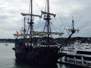 This full-sized replica of a Spanish Galion was built in Spain in 2009 and was docked near us in the St. Augustine Municipal Marina. It regularly makes the voyage to Spain and back.