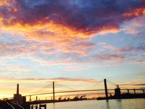 Sunset over the Savannah River