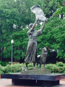 "The ""Waving Girl"" statue memorializes the story of the woman who fell in love with a seaman who soon shipped out, promising to return to marry her. To insure she wasn't missed, she met every arriving ship by waving a towel - for the rest of her life."