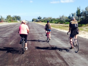 We biked throughout the island, and came upon this enormous airstrip - the past & present owner of the island and a handful of private homeowners  apparently fly in occasionally