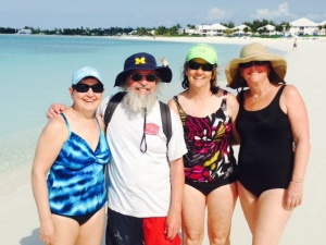 Enjoying the beach at Turtle Cay -