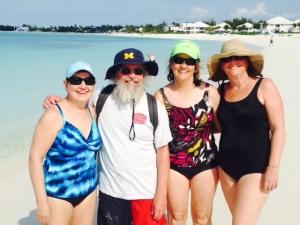 Enjoying the beach at Turtle Cay -