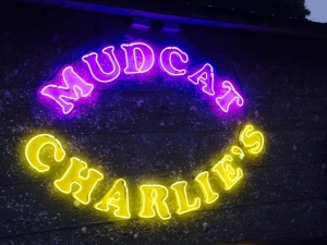 "MUDCAT CHARLIE'S - in rural Georgia parlance, a ""mudcat"" is a bottom fish that lives in the mud - I thought it was limited a catfish, but I've been assured that it refers to any of many types of fish that thrive in the swamps and bayous of the low country. Surprisingly, Two Way Fish Camp has a restaurant on site - it's named, fittingly, ""MUDCAT CHARLIE'S. Not surprisingly, the food was fresh and excellent. So I titled this entry MUDCAT CHARLIE's because it epitomizes the rural Georgia environment of this part of the Atlantic ICW"
