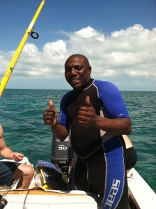 Magic promising we're going to catch some fish and some conch...