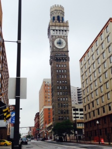 "The Baltimore Arts Tower - otherwise known as the ""Bromo Tower"" - It was built in 1911 by Captain Issac Emerson, the chemist who developed the headache remedy Bromo Seltzer. The tower was part of an 8 story factory where he manufactured huge quantities of the remedy. At the time it was the tallest building in Baltimore and housed the world's largest four-dial gravity clock with faces 24 feet in diameter. An unabashed promoter, Emerson crowned the tower with a 51 foot revolving replica of a Bromo Seltzer bottle - illuminared with nearly 600 lights, it could be seen by seamen 20 miles out to sea. In 1986, the bottle was removed due to structural deterioration."