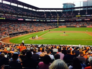 Taking in an evening Orioles game at Camden Yards - the O's beat the Mariners 9-4.
