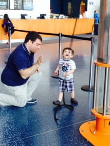 Jimmy and Jameson in the Science Museum -