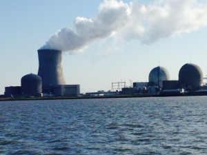 Jimmy's nuclear power plant has three reactors, but only one utilizes a cooling tower. The other two, of earlier vintage, use water directly from the river for cooling.