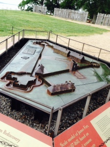 This is a model of the original fort built in 1607