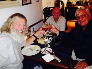 We celebrated the 1 year anniversary of our Great Loop voyage with a toast in Oriental -