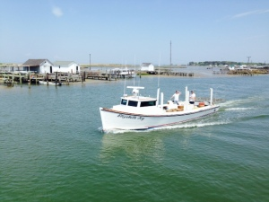 This is a typical crab boat of the type used by the watermen on Tangier Island