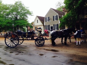 A classic scene in historic Williamsburg