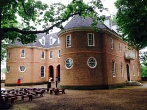 Virginia was a key vote in the debate over independence, as several other southern states tended to follow Virginia's lead.  This is the Capitol Building in Williamsburg where the key vote was undertaken in 1776. An excellent movie in the Visitors Center dramatized both sides of the debate.