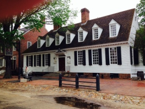 The Raleigh Tavern in Williamsburg, where Virginia leaders often met. Here in 1769, a group of burgesses adopted a proposal to boycott British goods. In 1774, they met again and issued a call for a Continental Congress.