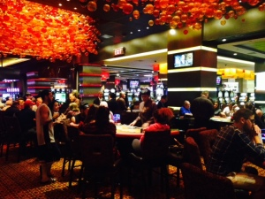 The gambling floors are enormous and seem to go on forever. Watching some of the games can be quite entertaining...