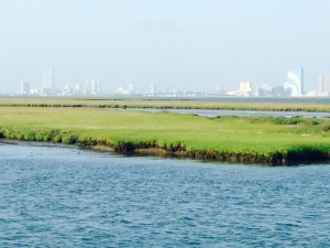 The Atlantic City skyline as seen from the New Jersey ICW.