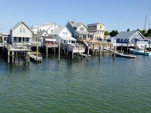 Some wonderful waterfront homes and cottages along the New Jersey ICW, which runs behind the barrier islands that make up the Jersey Shore.