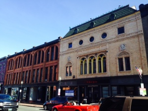 A sample of the beautiful, historic buildings that now house upscale restaurants, shops, and pubs along an active Main Street