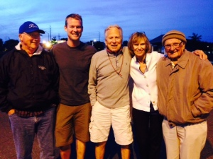 Evidence that the best part of an epic trip like this is the people you meet - from left to right:  Tom McNichol, Tim, Tom, Alice, and Hank