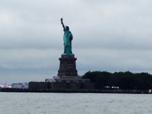 Passing The Lady as we head up the Hudson River