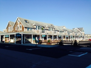 Shops along the waterfront in Watch Hill