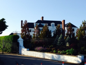 This is Taylor Swift's home overlooking the ocean near the waterfront in Watch Hill